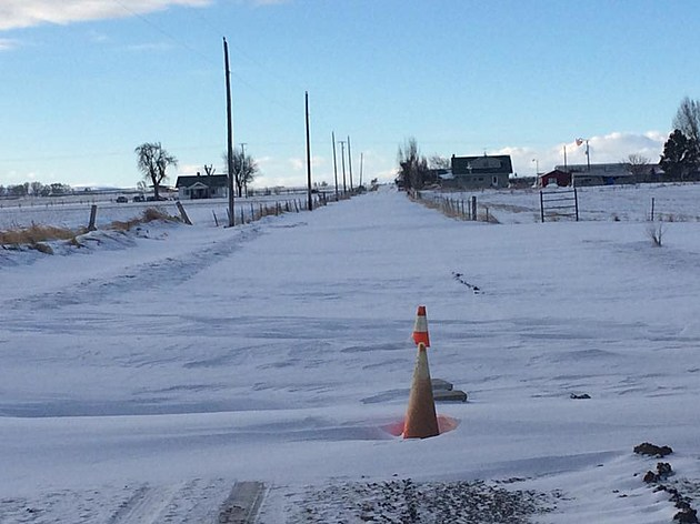 Snow Drift Across The Road
